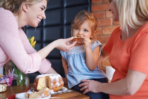 Célébration de pâques en famille