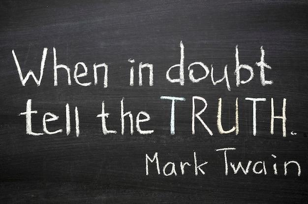 Célèbre citation de mark twain