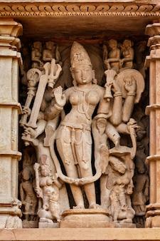 Célèbres sculptures des temples de khajuraho, inde