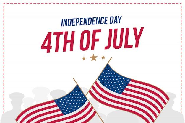 Célébrez le 4 juillet heureux - le jour de l'indépendance.