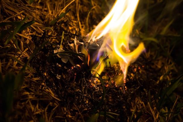 Cendres brûlantes d'un avion en papier