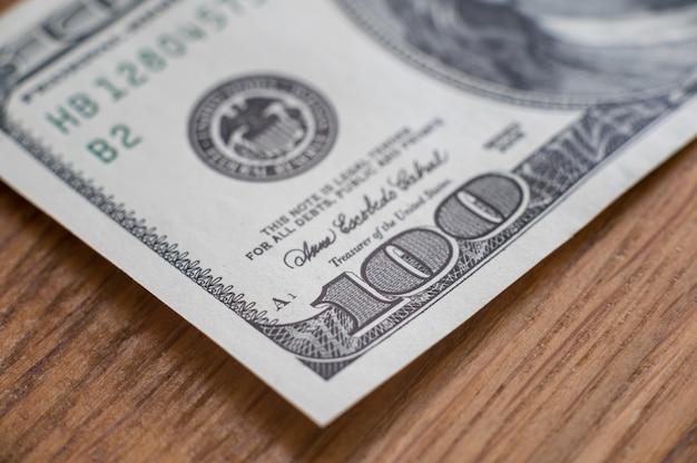 Cent dollars en gros plan, finance et bourse