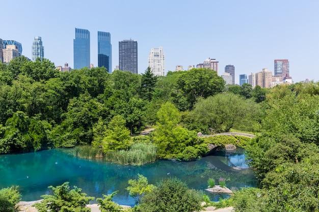 Central park l'étang manhattan new york
