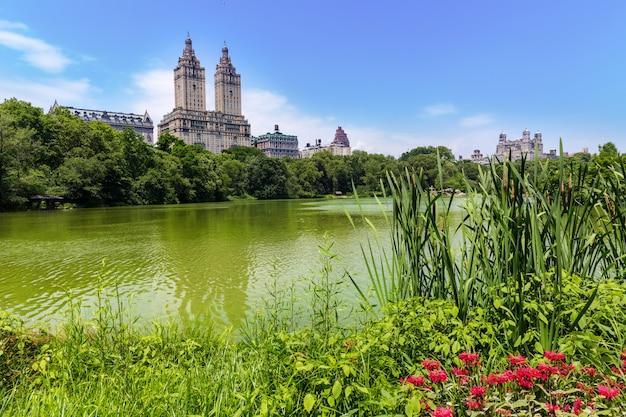 Central park le lac manhattan à new york