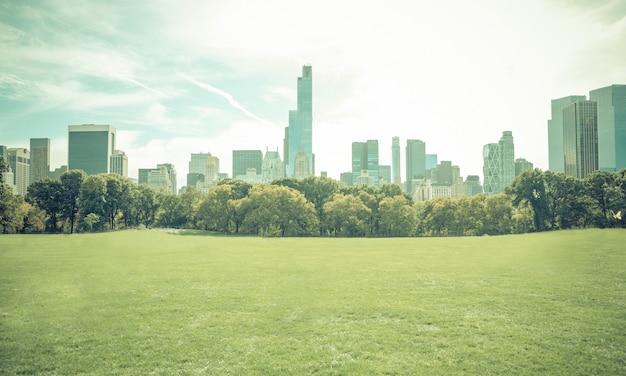 Central park à new york city sans personnes