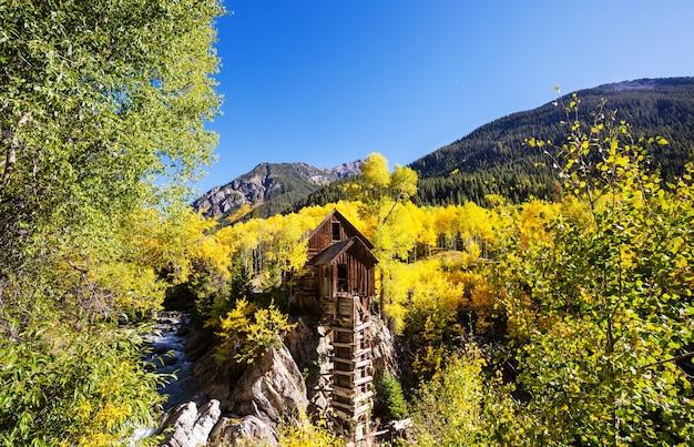 Centrale en bois crystal mill dans le colorado