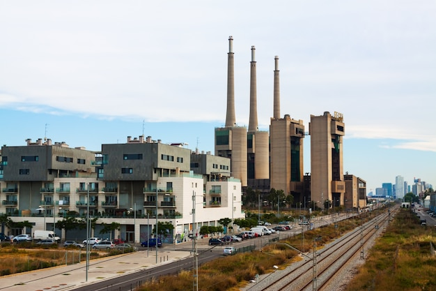 Centrale électrique fermée. barcelone