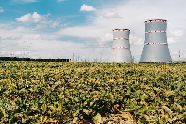 Centrale nucléaire biélorusse dans le district d'ostrovets