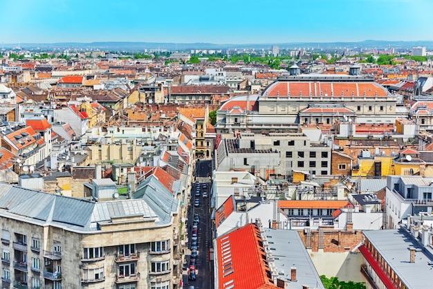 Centre de budapest, vue depuis la basilique saint-étienne