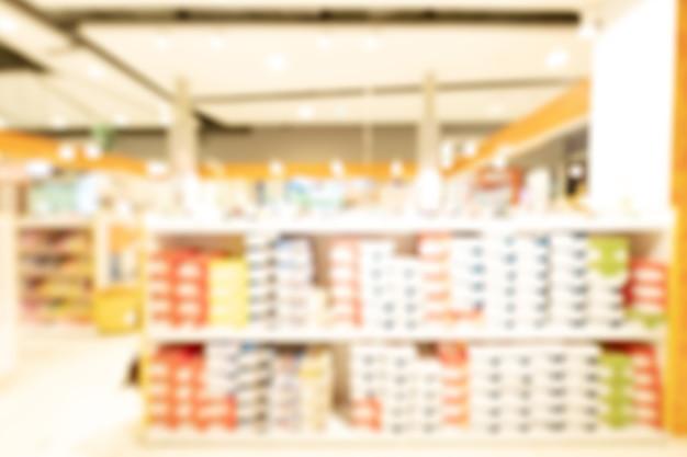 Centre commercial abstrait défocalisé arrière-plan flou. concept d'entreprise.