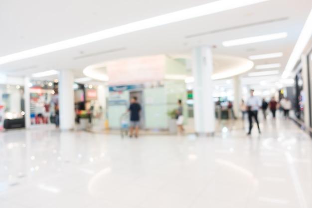 Centre commercial flou abstrait et défocalisé