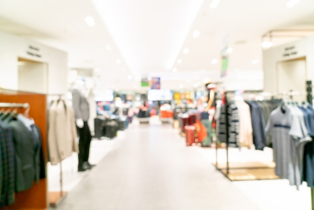 Centre commercial flou abstrait ou intérieur de grand magasin pour le fond