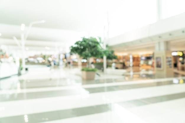 Centre commercial flou abstrait et magasin de détail pour le fond