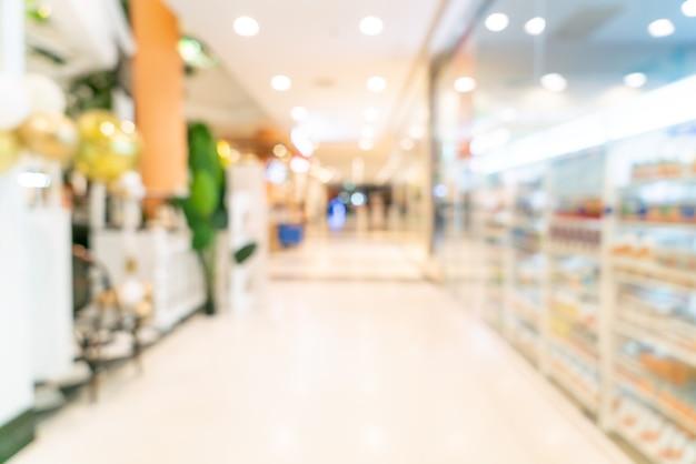 Centre commercial flou abstrait pour le fond
