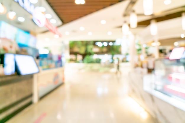 Centre commercial flou abstrait pour