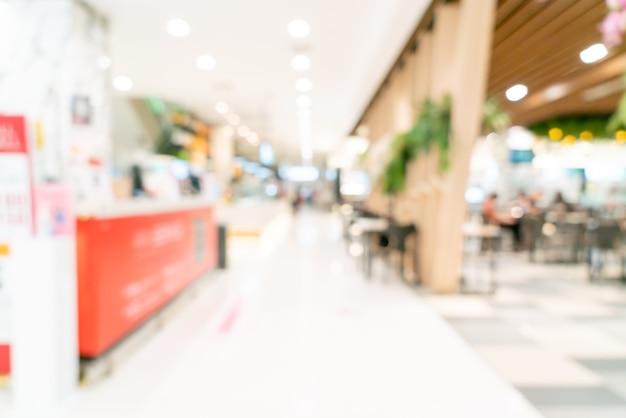Centre commercial flou abstrait