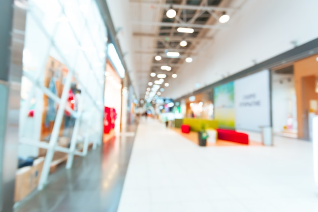 Centre commercial flou pour le fond