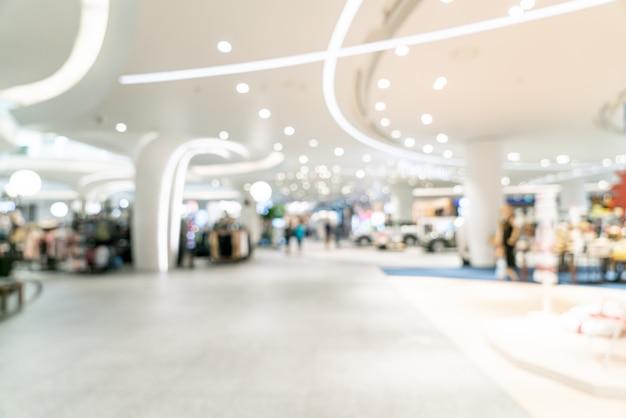 Centre commercial de luxe flou