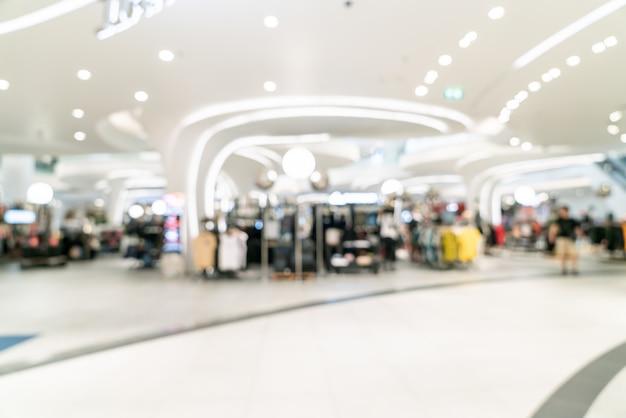 Centre commercial de luxe floue