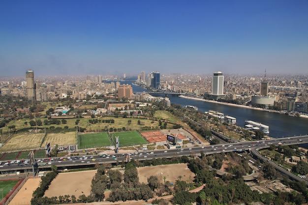 Centre du caire sur le nil, egypte