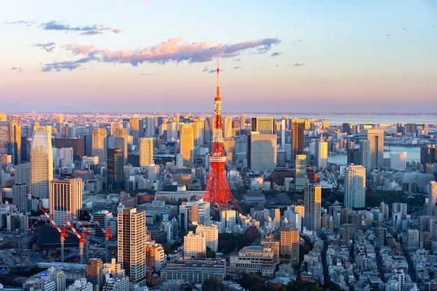 Le centre de tokyo et la tour de tokyo