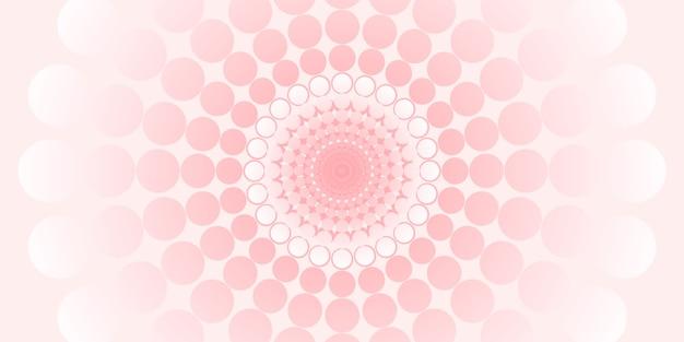 Cercle abstrait et motif à pois couleur pastel illustration 3d
