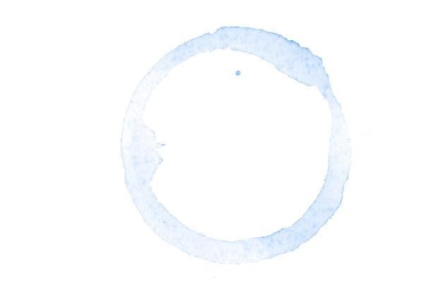 Cercle aquarelle bleu isolé sur fond blanc