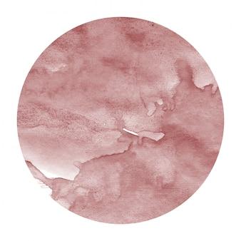 Cercle aquarelle dessiné à la main burgundi