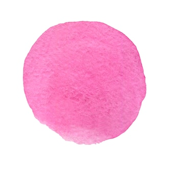 Cercle aquarelle rose aquarelle dessinée à la main