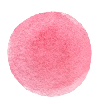 .cercle aquarelle rose. coup de pinceau ou tache aquarelle dessinés à la main