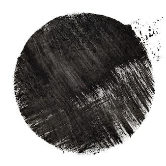 Cercle au pochoir noir avec traits -- illustration raster