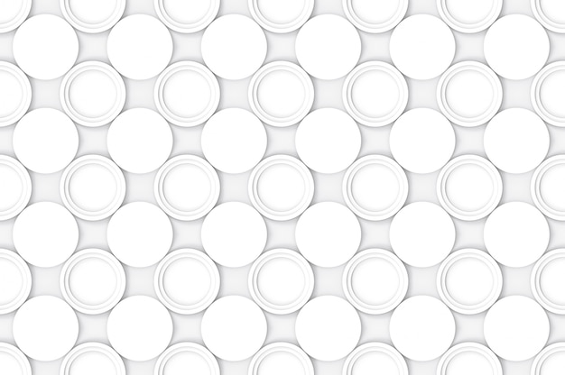Cercle blanc moderne sans couture modèle texture de mur de fond.