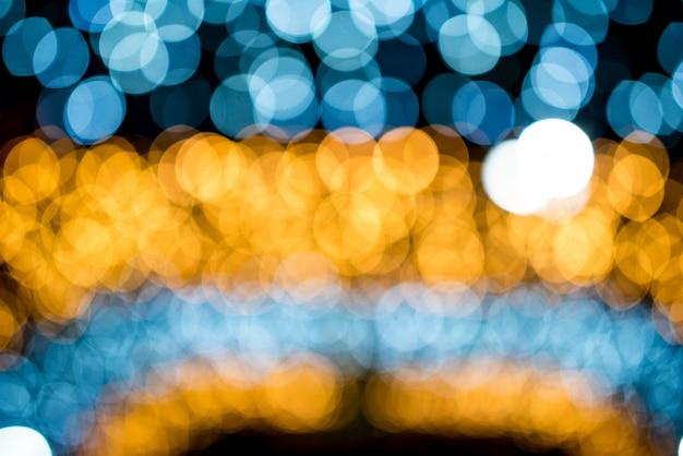 Cercle de bokeh, belles couleurs abstraites pour le fond de noël - images
