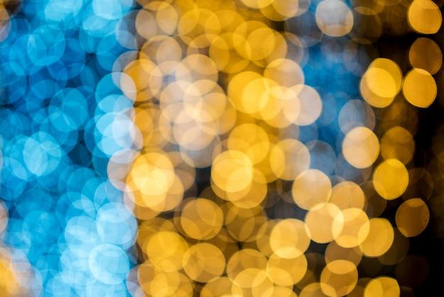 Cercle de bokeh, belles couleurs abstraites pour fond de noël - photos
