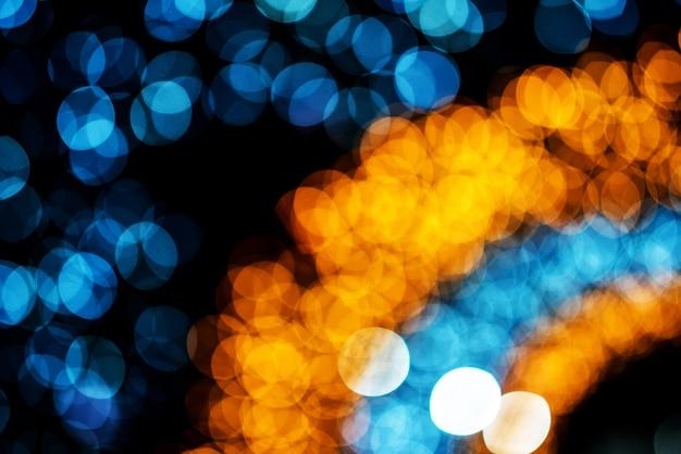 Cercle de bokeh, belles couleurs abstraites pour fond de noël