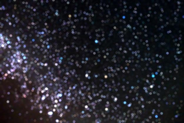 Cercle de ciel étoile bokeh floue