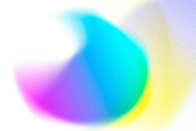 Cercle coloré sur une illustration de fond blanc