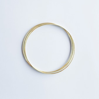 Cercle doré avec fond
