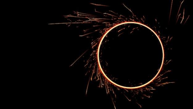 Cercle de flammes de feu du bengale
