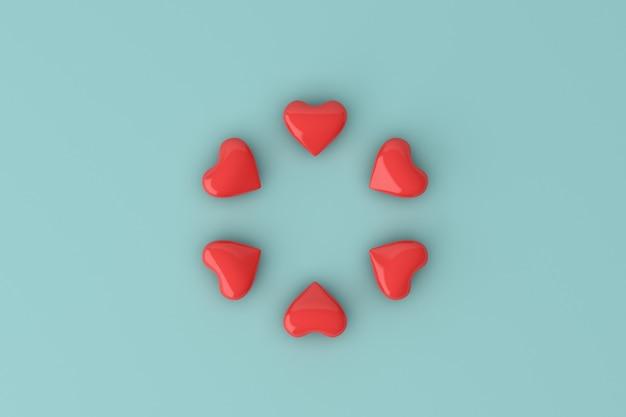 Cercle de forme de coeurs, concept de la saint-valentin.