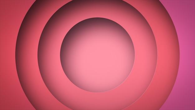 Cercle forme géométrique dynamique ping couleur abstrait