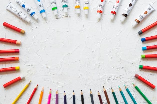 Cercle en matériel de peinture