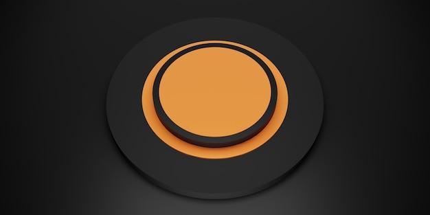 Cercle noir présentoir anneau cadre fond cercle socle illustration 3d