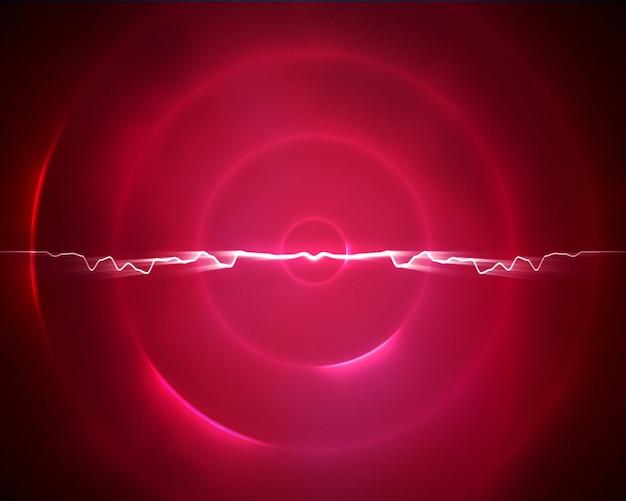 Cercle rose et violet avec un éclair au milieu