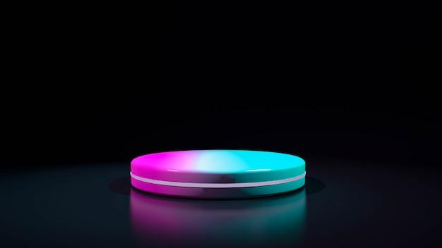 Cercle stade néon violet. abstrait futuriste