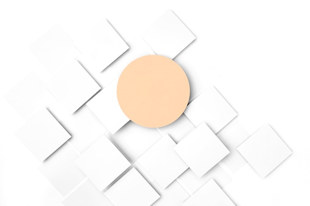 Cercle de vue de dessus sur fond blanc