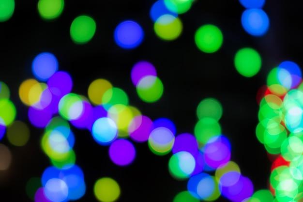 Cercles colorés de fond de bokeh abstraite légère