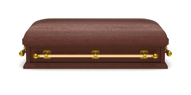 Cercueil. rendu 3d isolé