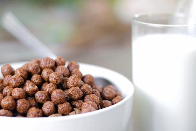 Céréales au chocolat dans un bol