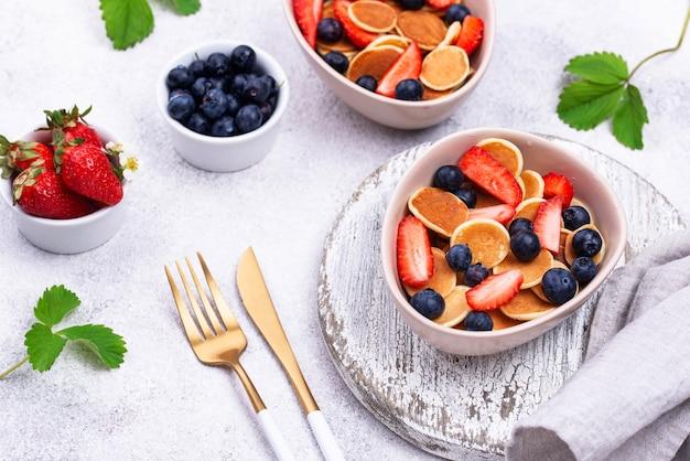 Céréales à crêpes sucrées aux fruits rouges